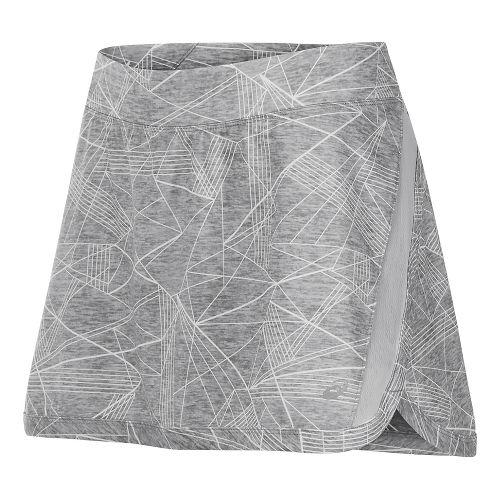 Womens ASICS Interval Skorts Fitness Skirts - Grey Skyline Print M