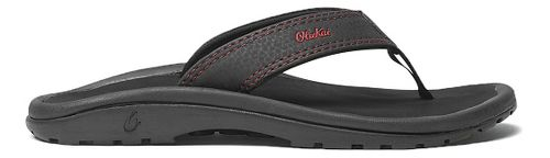 Olukai Ohana Sandals Shoe - Black/Sour Cherry 4Y/5Y