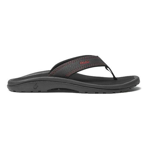 Olukai Ohana Sandals Shoe - Black/Sour Cherry 9C/10C