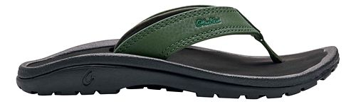 Kids OluKai Ohana Sandals Shoe - Sea Grass/Black 2Y/3Y