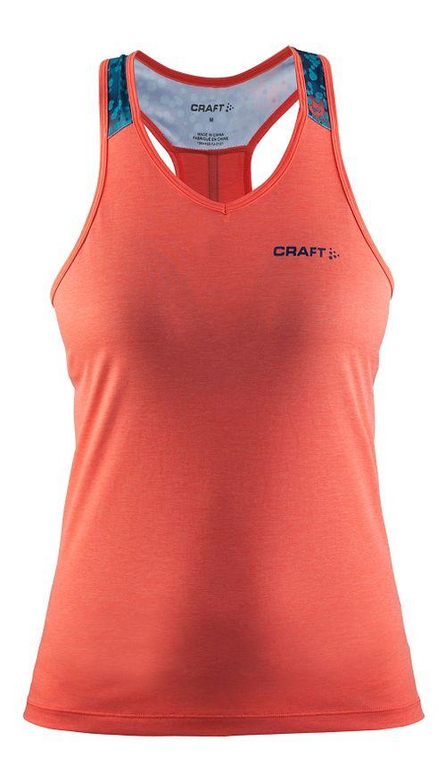 Womens Craft Pulse Singlet Sleeveless & Tank Tops Technical Tops - Calypso M