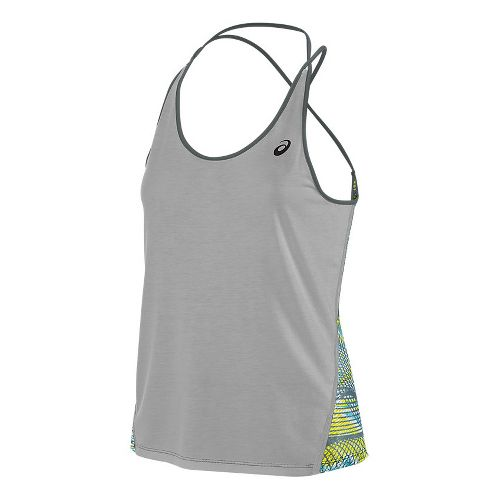 Womens ASICS Layering Sleeveless & Tank Tops Technical Tops - Midgrey L