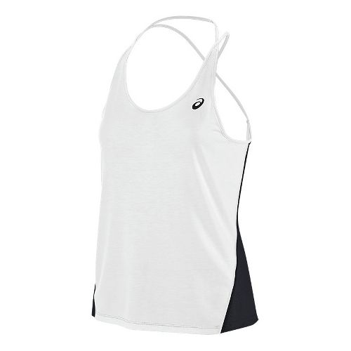 Womens ASICS Layering Sleeveless & Tank Tops Technical Tops - White L