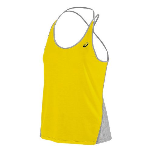 Womens ASICS Layering Sleeveless & Tank Tops Technical Tops - Blazing Yellow XL