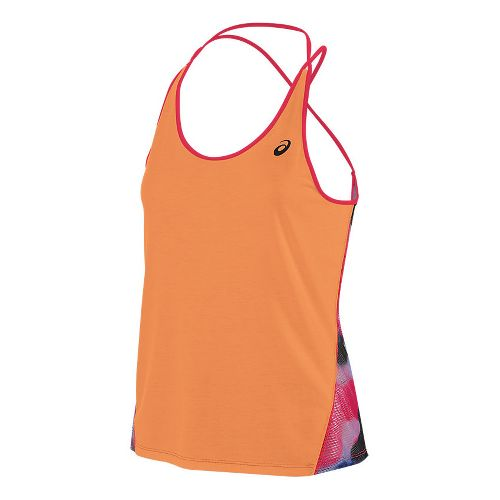 Womens ASICS Layering Sleeveless & Tank Tops Technical Tops - Melon S