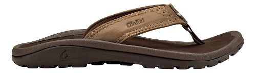 Olukai  Nui Sandals Shoe - Tan/Dark Java 9C/10C