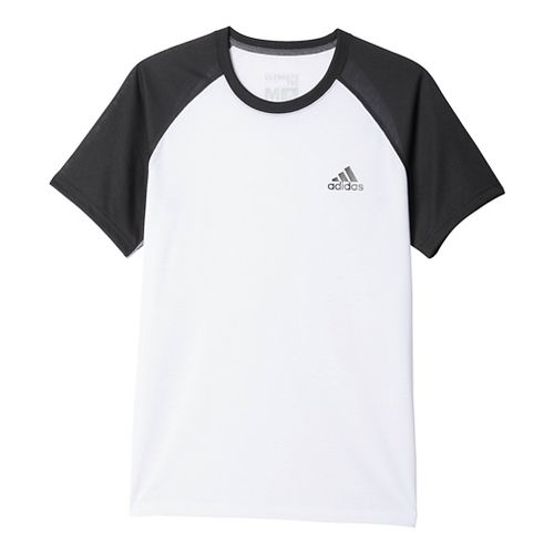 Mens Adidas Ultimate Tee Short Sleeve Technical Tops - White/Black XL