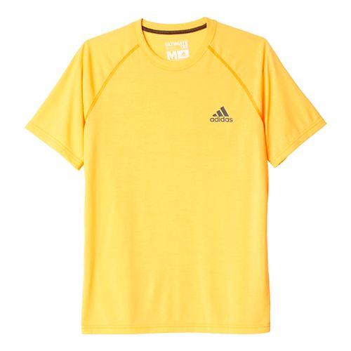 Mens Adidas Ultimate Tee Short Sleeve Technical Tops - Solar Gold/Black XL