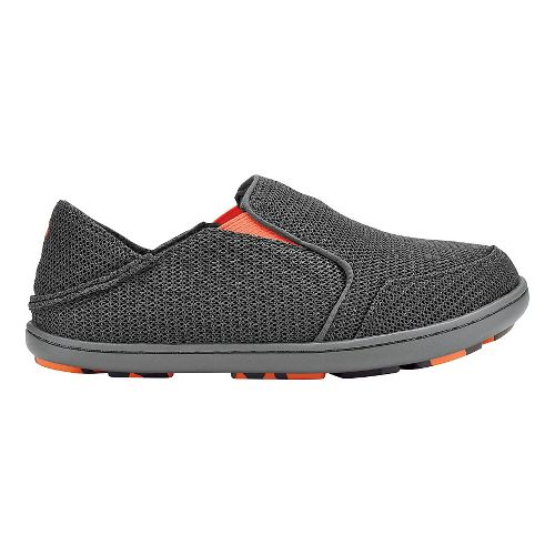 Olukai Nohea Mesh Boys Sandals Shoe - Dark Shadow/Blaze 5Y
