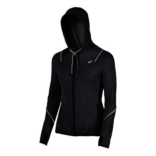 Womens ASICS Lightweight Half-Zips & Hoodies Technical Tops - Black XL