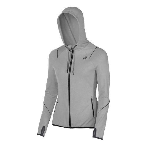 Womens ASICS Lightweight Half-Zips & Hoodies Technical Tops - Midgrey L