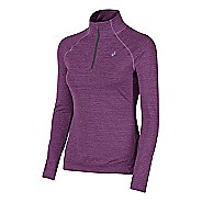 Womens ASICS Lite-Show Half-Zips & Hoodies Technical Tops