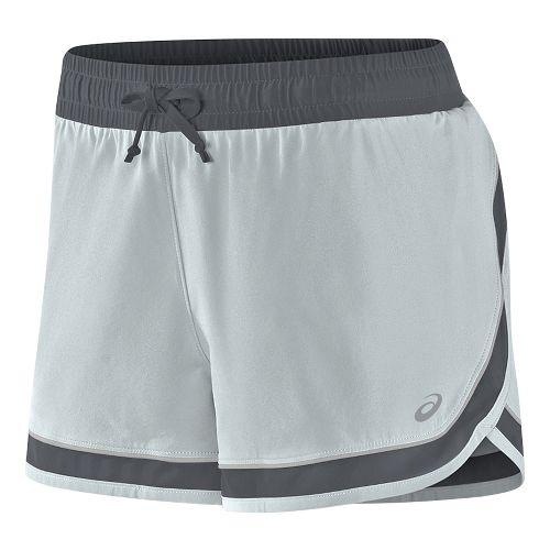 Womens ASICS Lite-Show 3-N-1 Lined Shorts - Midgrey L