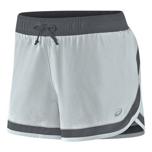 Womens ASICS Lite-Show 3-N-1 Lined Shorts - Midgrey XS