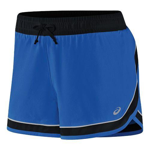 Womens ASICS Lite-Show 3-N-1 Lined Shorts - New Blue L