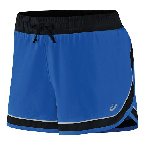 Womens ASICS Lite-Show 3-N-1 Lined Shorts - New Blue M