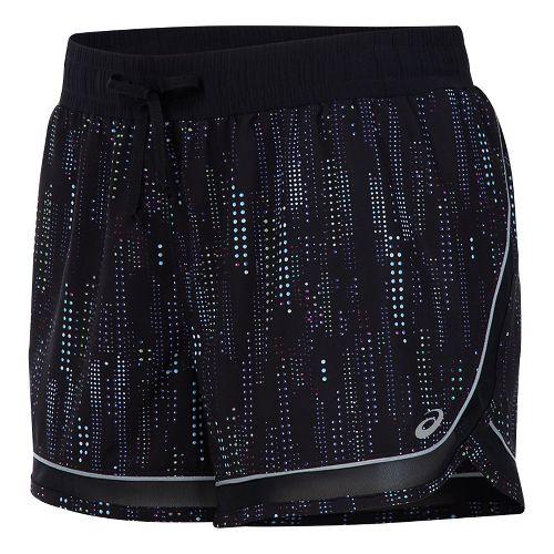 Womens ASICS Lite-Show 3-N-1 Lined Shorts - Raindrop Print L