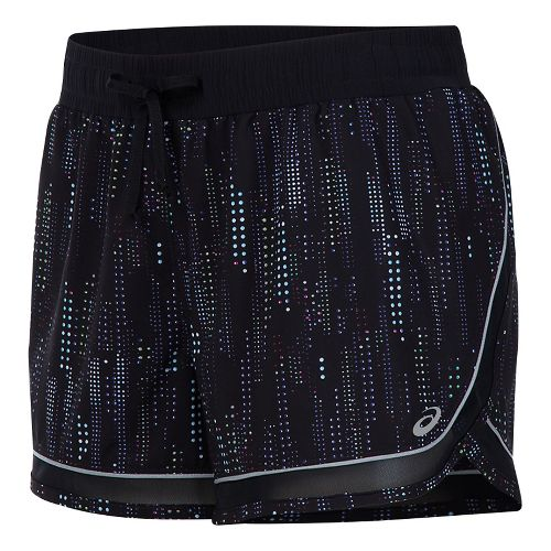 Womens ASICS Lite-Show 3-N-1 Lined Shorts - Raindrop Print M