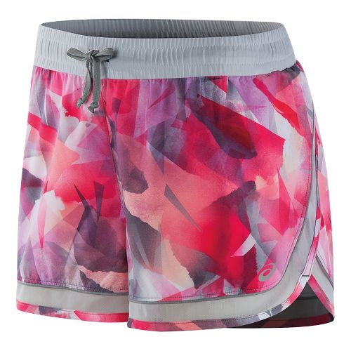 Womens ASICS Lite-Show 3-N-1 Lined Shorts - Faded Geo Print L