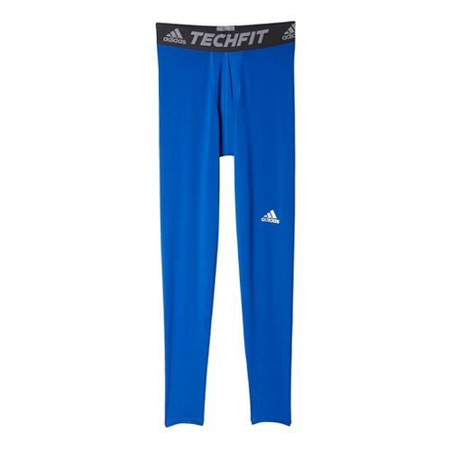 Mens Adidas Techfit Base-Layer Tights & Leggings Pants - Royal M