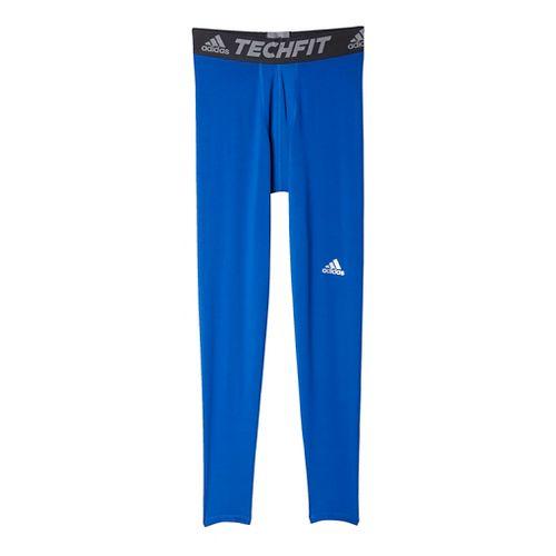 Mens Adidas Techfit Base-Layer Tights & Leggings Pants - Royal S