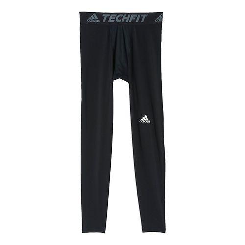 Mens Adidas Techfit Base-Layer Tights & Leggings Pants - Black 2XL