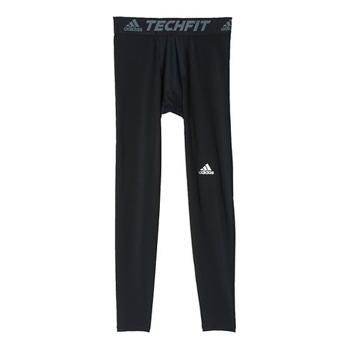 Mens Adidas Techfit Base-Layer Tights & Leggings Pants - Black L