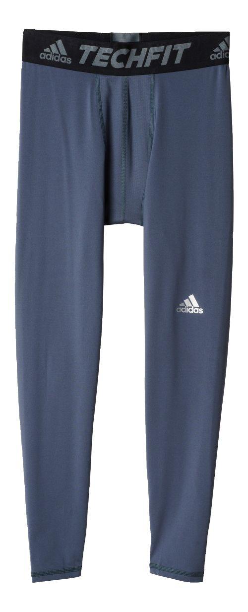 Mens adidas Techfit Base-Layer Tights & Leggings Pants - Onyx XL