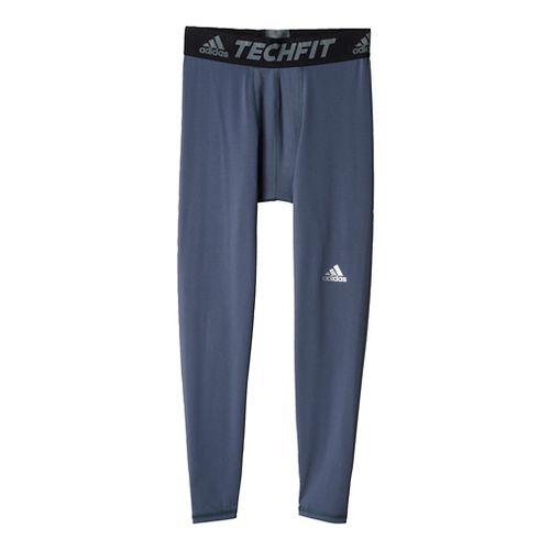 Mens Adidas Techfit Base-Layer Tights & Leggings Pants - Onyx S