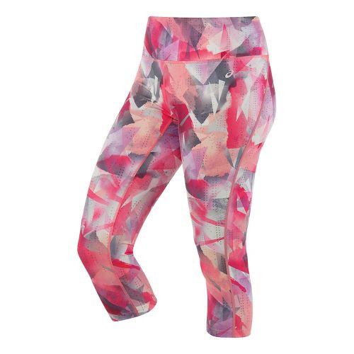 Womens ASICS Lite-Show Capri Pants - Faded Geo Print L