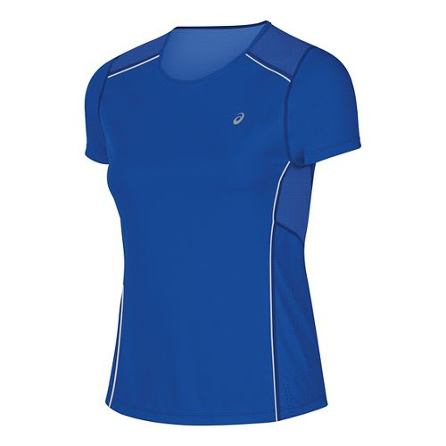 Womens ASICS Lite-Show Short Sleeve Technical Tops - New Blue M