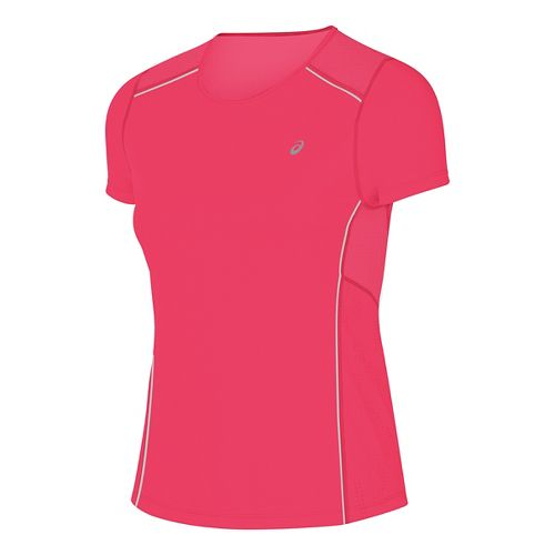 Womens ASICS Lite-Show Short Sleeve Technical Tops - Diva Pink L