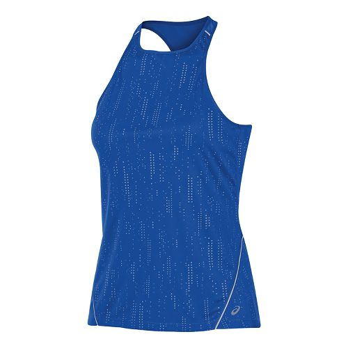Womens ASICS Lite-Show Sleeveless & Tank Tops Technical Tops - New Blue S