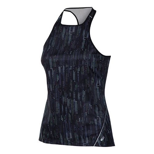 Womens ASICS Lite-Show Sleeveless & Tank Tops Technical Tops - Raindrop Print L