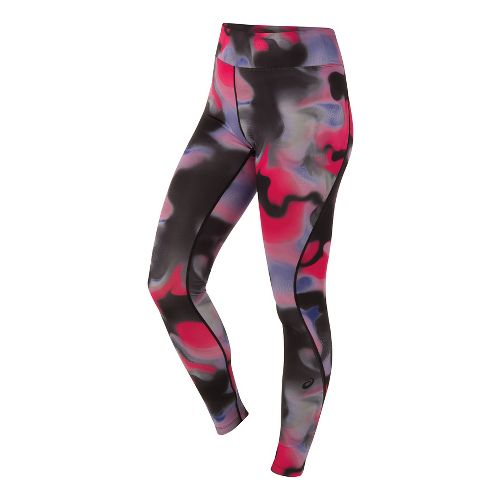 Womens ASICS Long Tights & Leggings Pants - Carpe Diem Print M