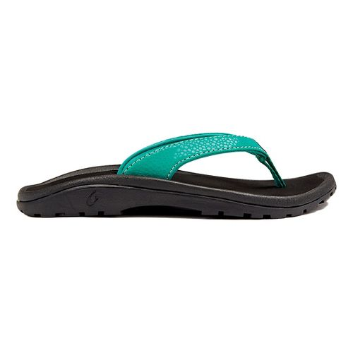 Olukai Kulapa Kai Sandals Shoe - Mermaid/Black 2Y/3Y