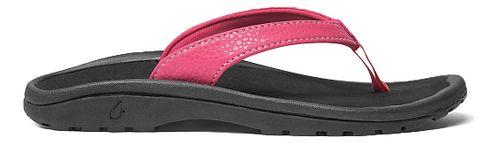 Olukai Kulapa Kai Sandals Shoe - Bikini Pink/Black 11C/12C