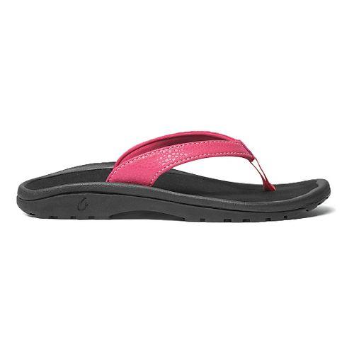 Olukai Kulapa Kai Sandals Shoe - Bikini Pink/Black 2Y/3Y