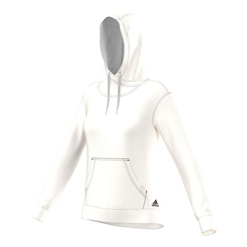 Womens Adidas 24/7/365 Pullover Half-Zips & Hoodies Technical Tops - White S