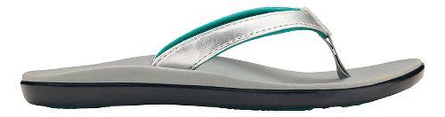 Olukai Ho'opio Girls Sandals Shoe - Silver/Pale Grey 1Y
