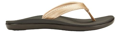 Olukai Ho'opio Girls Sandals Shoe - Bubbly/Dark Java 2Y
