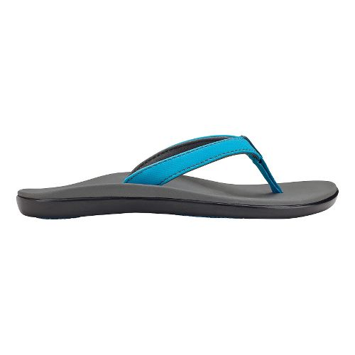 Olukai Ho'opio Girls Sandals Shoe - Vivid Blue/Charcoal 2Y