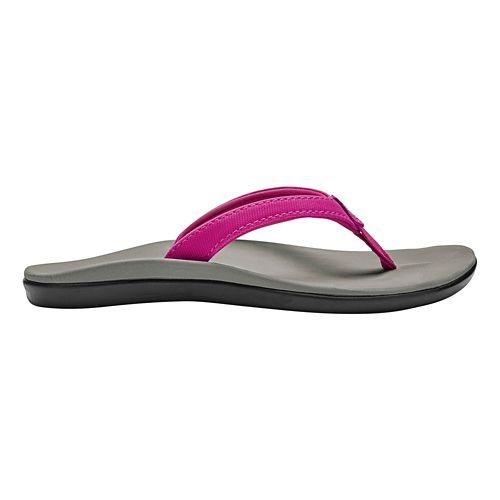 Girls OluKai Ho'opio Sandals Shoe - Grape/Pale Grey 1Y