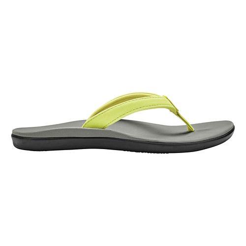 Girls OluKai Ho'opio Sandals Shoe - Pineapple/Pale Grey 4Y