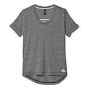 Womens Adidas 3-Stripe Boyfriend Tee Short Sleeve Technical Tops