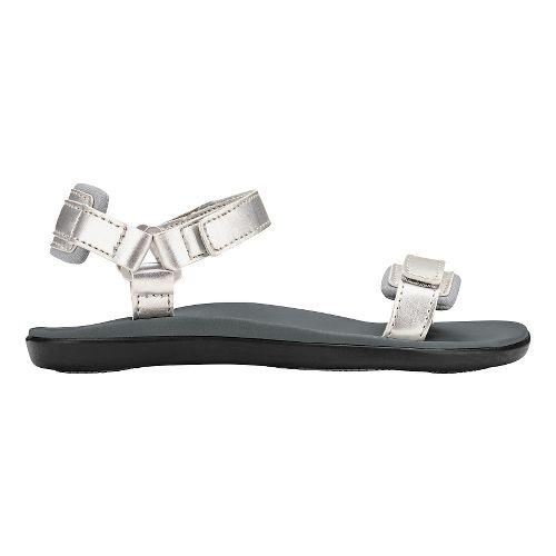 Olukai Luana Girls Sandals Shoe - Silver/Pale Grey 10C
