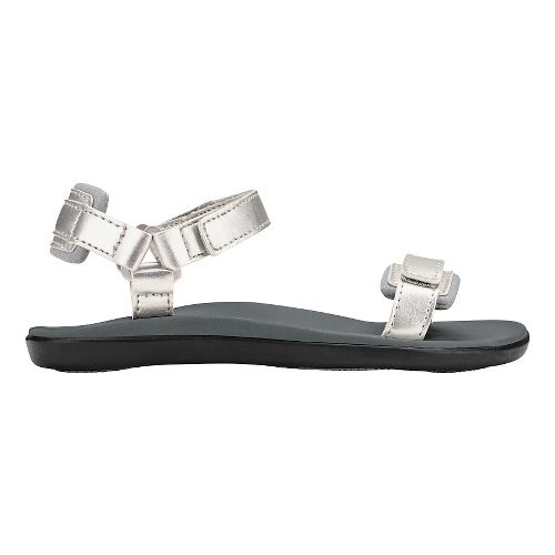 Olukai Luana Girls Sandals Shoe - Silver/Pale Grey 6Y