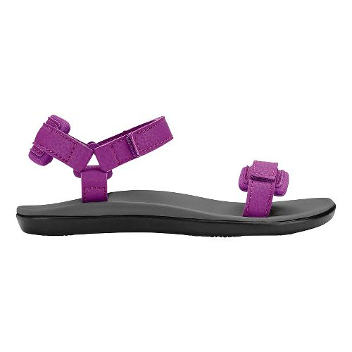 Olukai Luana Girls Sandals Shoe - Dahlia/Pale Grey 6Y
