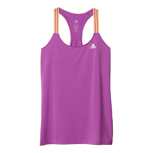 Womens Adidas 3-Stripe Sleeveless & Tank Tops Technical Tops - Purple/Gold/Silver M