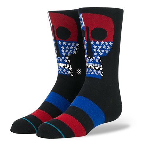 Stance Boys Freedom Crew Socks - Black L